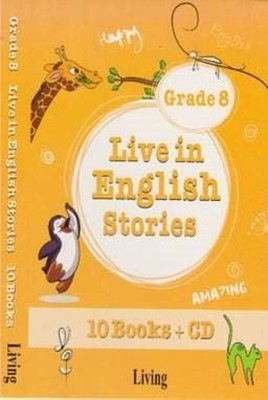Grade 8 Live in English Stories-10 Books CD