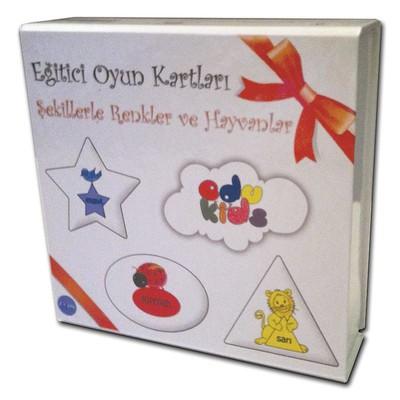 Edukids-Eğt.Kart Şek.Renkl.&Hayvan.