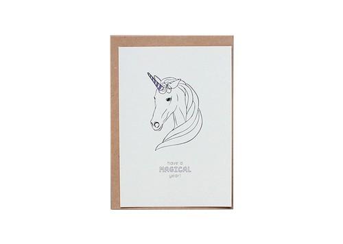 Paper Yılbaşı Kartı - Unicorn