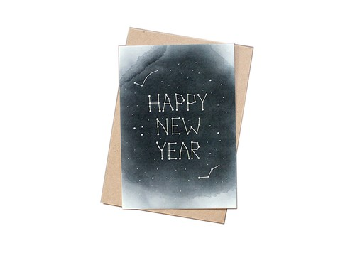 Paper Yılbaşı Kartı - Starry New Year
