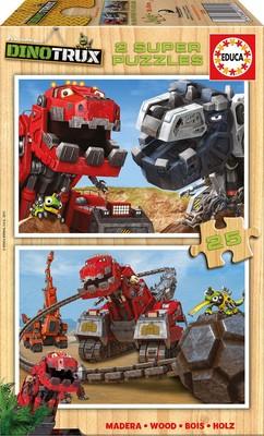 Educa Puzzle Dinotrux 2X25 Parça 17271