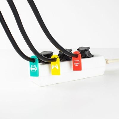 Cable Candy CC004 Tag 8Pcs Unıversal Mıxed Colour Cable