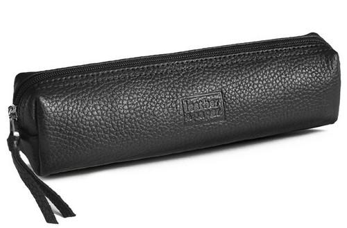 Leather & Paper Siyah Deri Kalem Kutusu