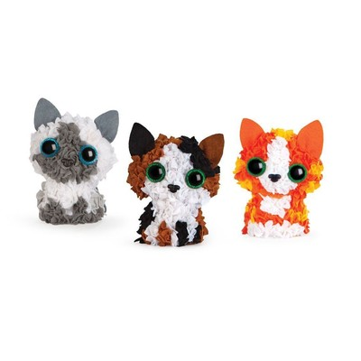 PlushCraft Hobi Seti - Kitten Club (3 Boyutlu)