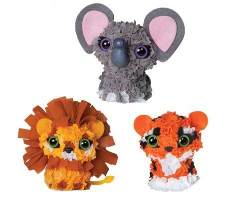 PlushCraft Hobi Seti - Zoo Animals (3 Boyutlu)