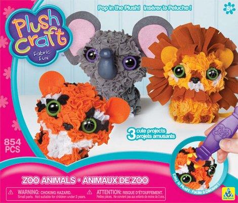 PlushCraft Zoo Animals 3 Boyutlu Hobi Seti