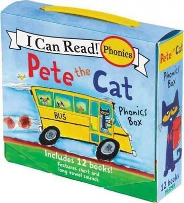 Pete the Cat Phonics Box: Includes 12 Mini-Books Featuring Short and Long Vowel Sounds (My First I C