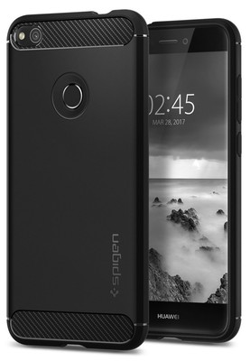 Spigen Huawei P9 Lite 2017 P8 Lite 2017 GR3 2017 Nova Lite Honor 8 Lite Kılıf Rugged Armor - Black