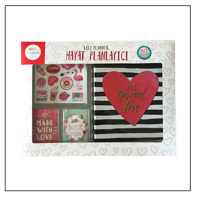 Miya Design Red Love Hayat Planlayıcı