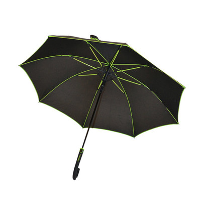 Biggbrella Şeritli Siyah Uzun Şemsiye
