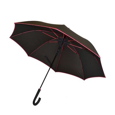 Biggbrella Şemsiye Şeritli Siyah Uzun