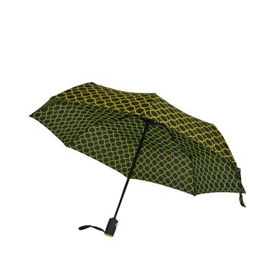 Biggbrella Puanlı Siyah Koyu Yeşil Mini Şemsiye