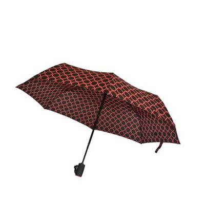 Biggbrella Puanlı Siyah Pembe Mini Şemsiye