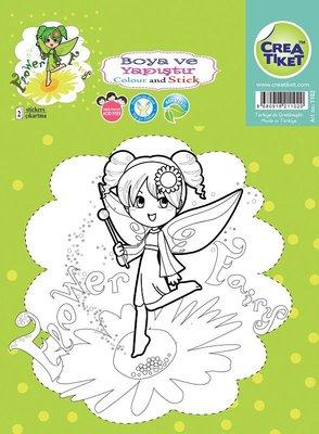 Crea Etiket Yeşil Peri-Kelebek Kız