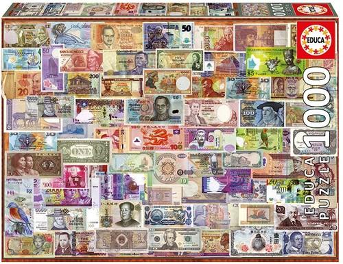Educa Puzzle World Banknotes 1000 Parça 17659