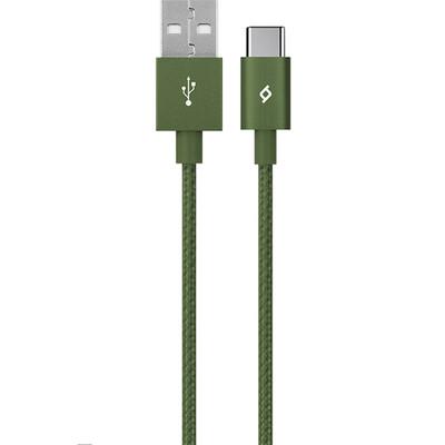 ttec 2DK18HY AlumiCable Type-C Şarj Kablosu - Haki Yeşili