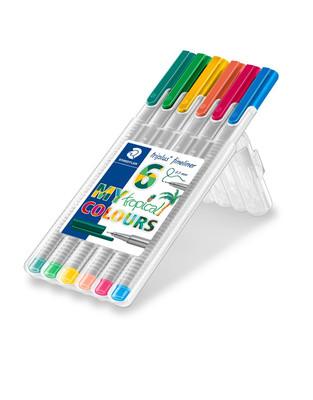 Staedtler Fineliner 0.3 Mm Tropikal Renk 6Lı