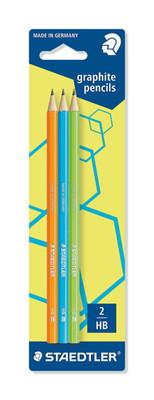 Staedtler Kurşun Kalem 3Lü Neon Karışık Bls.