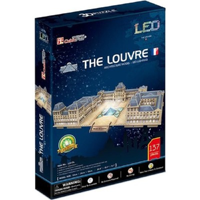 CubicFun-3D Puz.Louvre Müzesi - Fransa (Led Işıklı)
