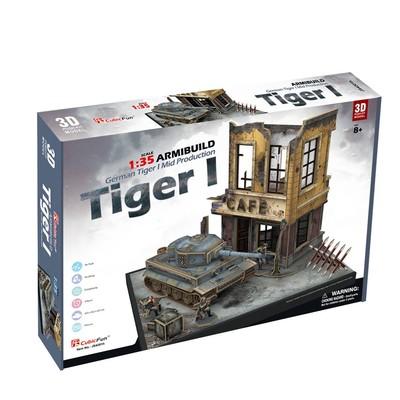 CubicFun-3D Puz.German Tiger I Mid Dioroma Set