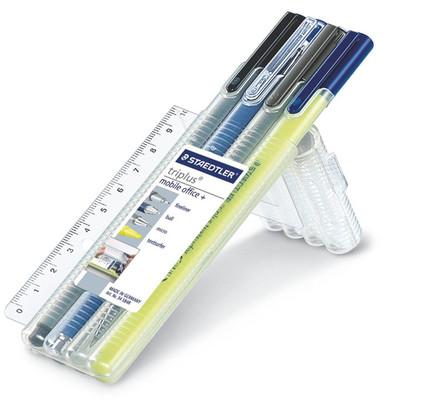 Staedtler Triplus Mobile Office 4Lü Set(Fineliner-Tükenmez Kalem-Versatil-Fosforlu Kalem)