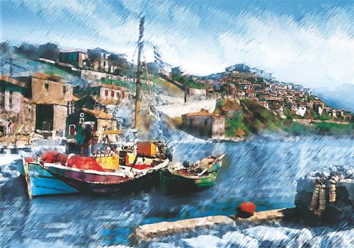 Puzz Puzzle 2000 Balıkçı Teknesi 70x100