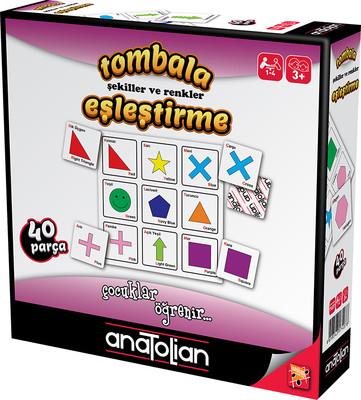 Anatolian Tombala Şekiller ve Renkler Eşleştirme 40 Parça Eğitici Oyun