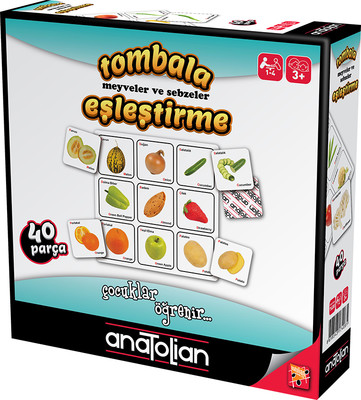 Anatolian-Tombala Meyveler ve Sebzeler Eşleştirme 40 Parça