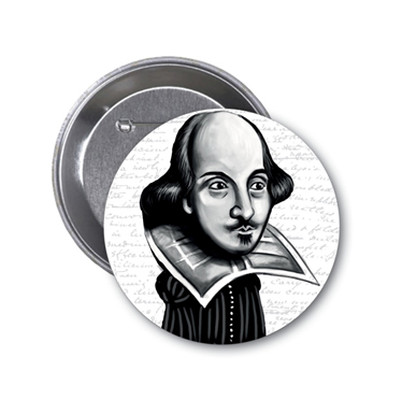Aylak Adam Hobi-William Shakespeare Karikatür Rozet