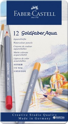 Faber Castell Kuru Boya Kalemi Goldfaber Aqua 12li