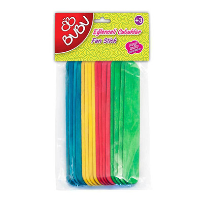 Bu-Bu Eğl.Çub.Renkli 15X1,8Cm 40Lı Uzun
