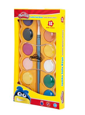 Play-Doh Suluboya Jumbo 12Renk 40mm