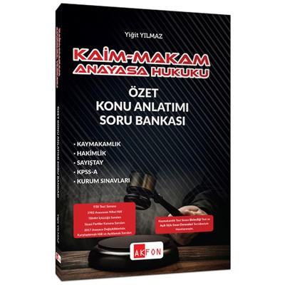Kaim-Makam Anayasa Hukuku Özet Konu Anlatımı Soru Bankası