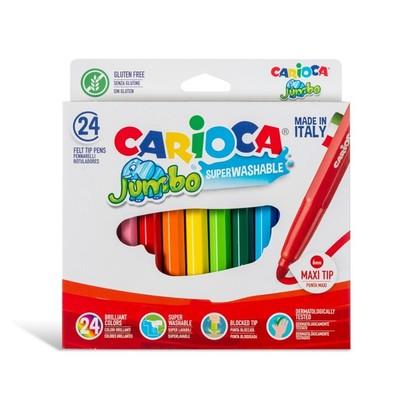 Carioca Keçeli Boya Süper Yıkanabilir 24Lü
