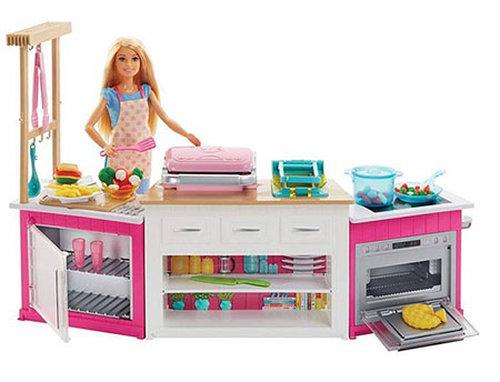 Barbie Bebek Mutfak Dünyası Oyun Seti FRH73
