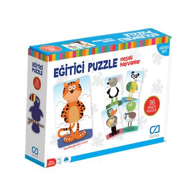 Ca Games Neşeli Hayvanlar Eğitici Puzzle 5028