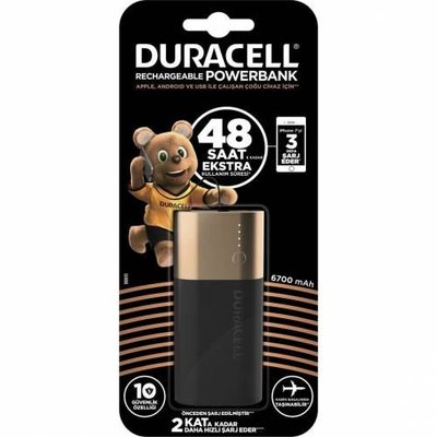 Duracell Powerbank 6700 mAh 48 Saat