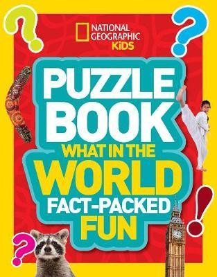Puzzle Book What in the World: Brain-tickling quizzes, sudokus, crosswords and wordsearches (Nationa