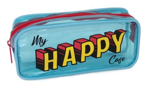 Pape Şeffaf Mavi Kalem Kutu Happy Case 17500