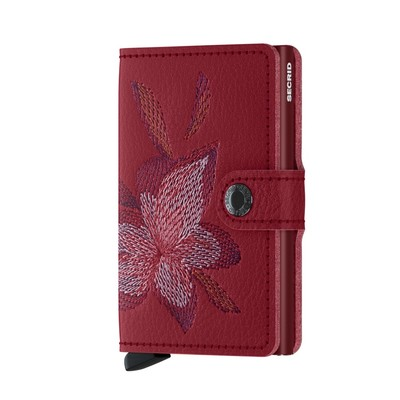 Secrid Miniwallet Stitch-Magnolia Rosso