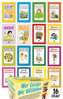 Her Çocuğa Bir Kütüphane Seti-16 Kitap Takım Kutulu