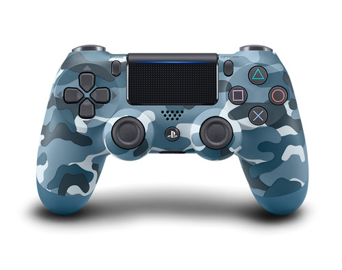 PS4 Dualshock Cont Blue Camouflage v2
