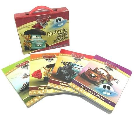 Disney Pixar Cars Toon-Mater'in Abartılı Hikayeler Koleksiyonu-4 Kitap Takı Kutulu