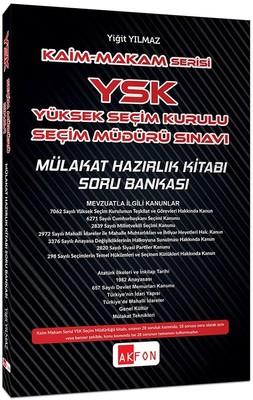 Kaim Makam YSK Şeçim Müdürlüğü Sınavı Mülakat Hazırlık Kitabı Soru Bankası