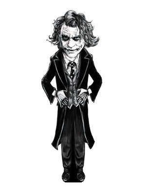 Aylak Adam Hobi-Joker Karikatür Ayraç
