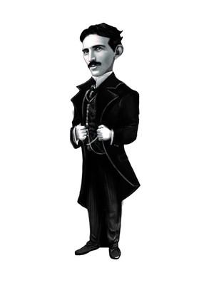 Aylak Adam Hobi-Nikola Tesla Karikatür Ayraç