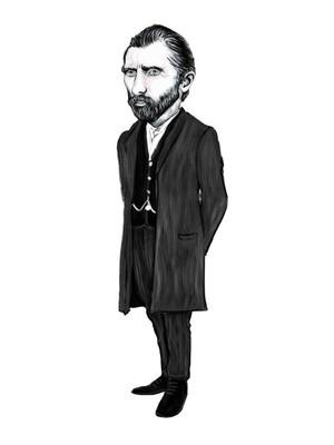 Aylak Adam Hobi-Vincent Van Gogh Karikatür Ayraç
