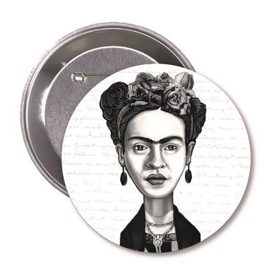 Aylak Adam Hobi-Frida Kahlo Karikatür Rozet