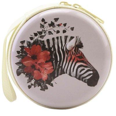 Bohong Mini Fermuarlı Kutucuk Zebra