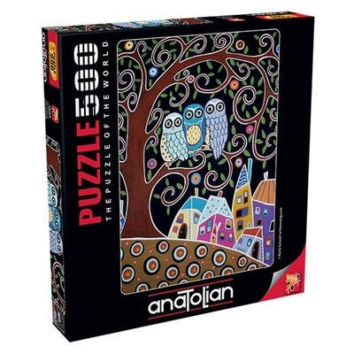 Anatolian Puzzle 500 Parça Üç Baykuş 3605